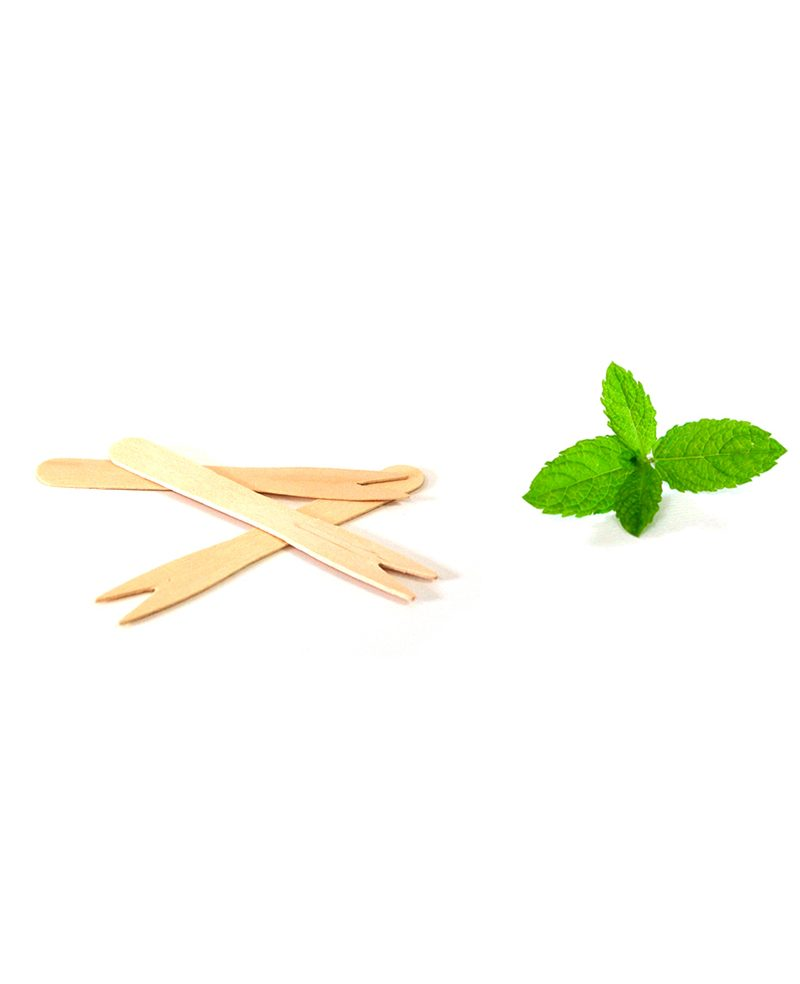 Wooden french fry fork small