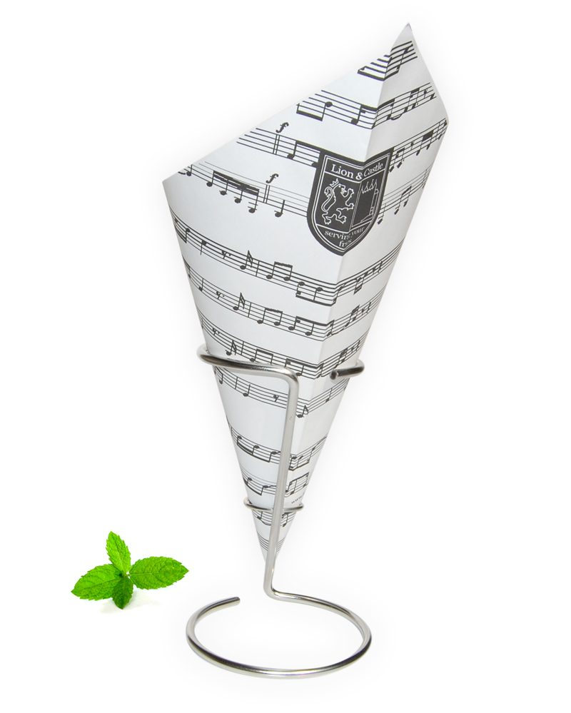 Paper cone Music, French fry paper cone music