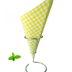 French fry cone, spring yellow