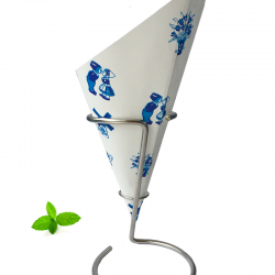 French Fry Cone Delft Blue
